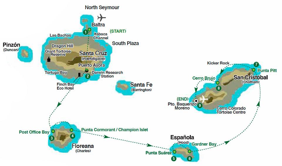 4 nights isabela-ii-southern-galapagos-itinerary