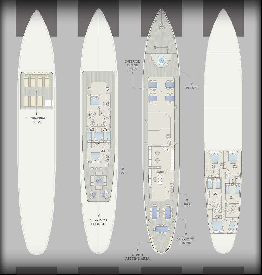 Grace Yacht Deck Plan