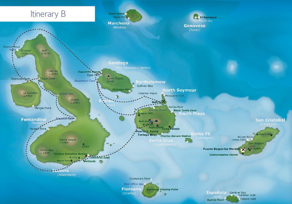 Galapagos itinerary B
