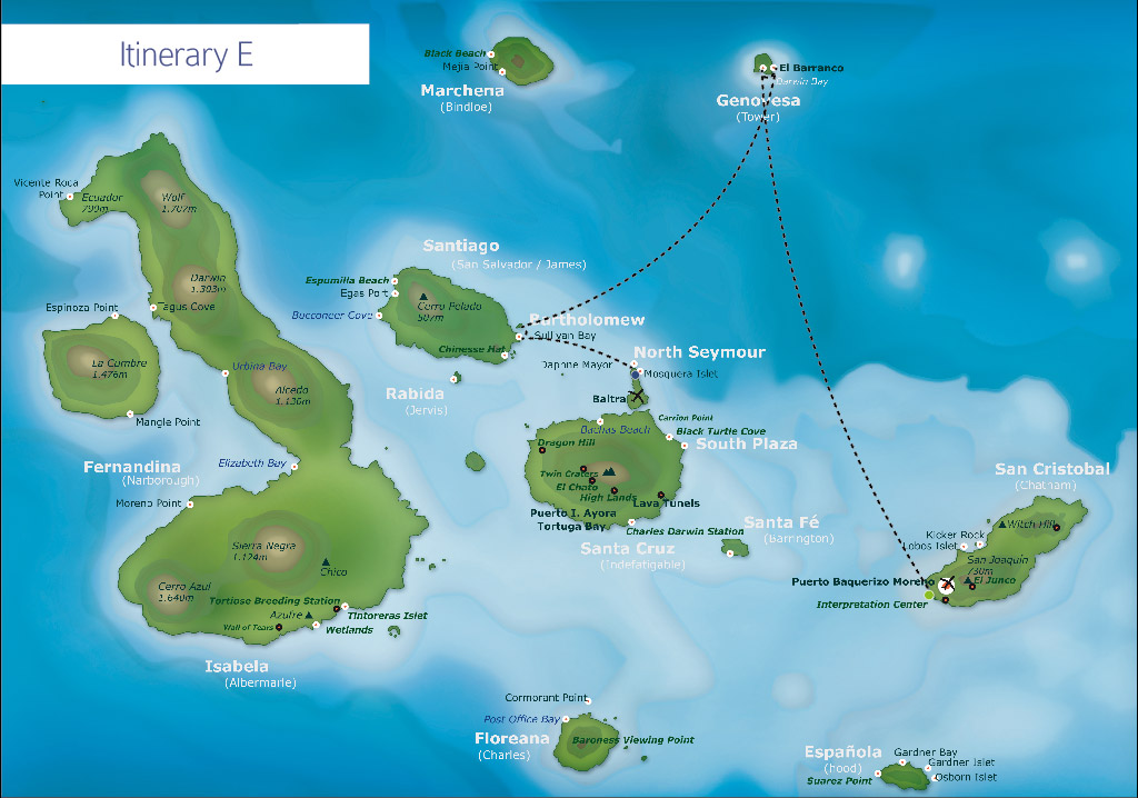 Galapagos itinerary E