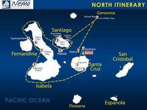 Nemo II North itinerary Galapagos