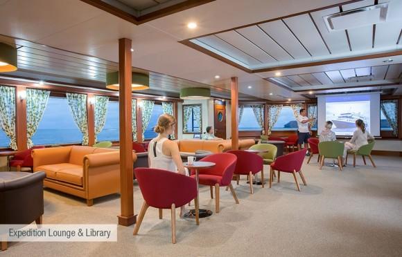 Santa Cruz II interior1 - Birdwatching Galapagos Cruises