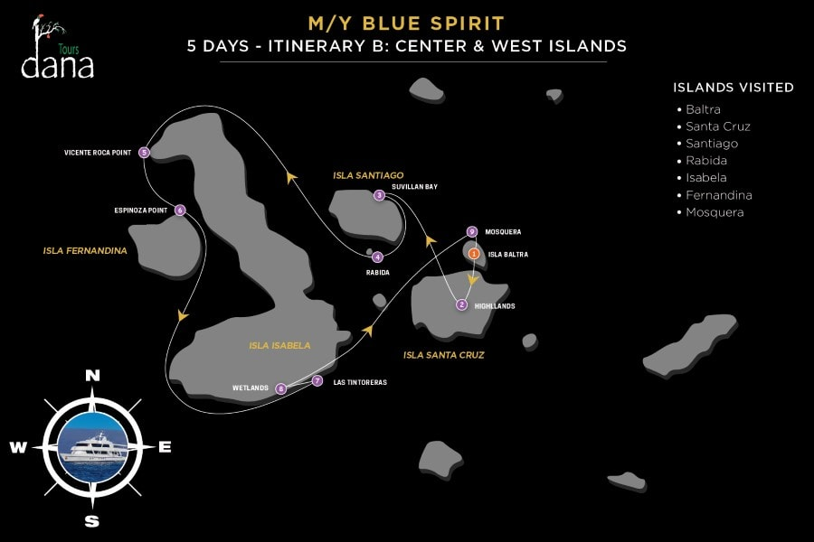 Blue Spirit 5 Days - B Center & West Islands