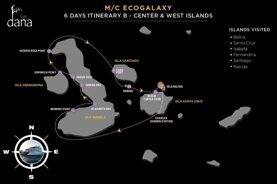 MC EcoGalaxy 6 Days Itinerary B - Center & West Islands