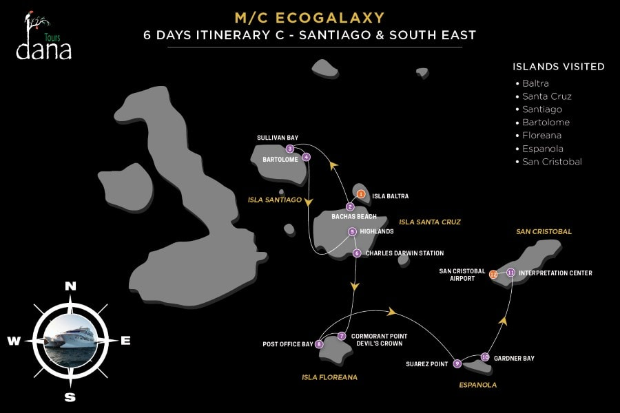 MC EcoGalaxy 6 Days Itinerary C - Santiago & South East