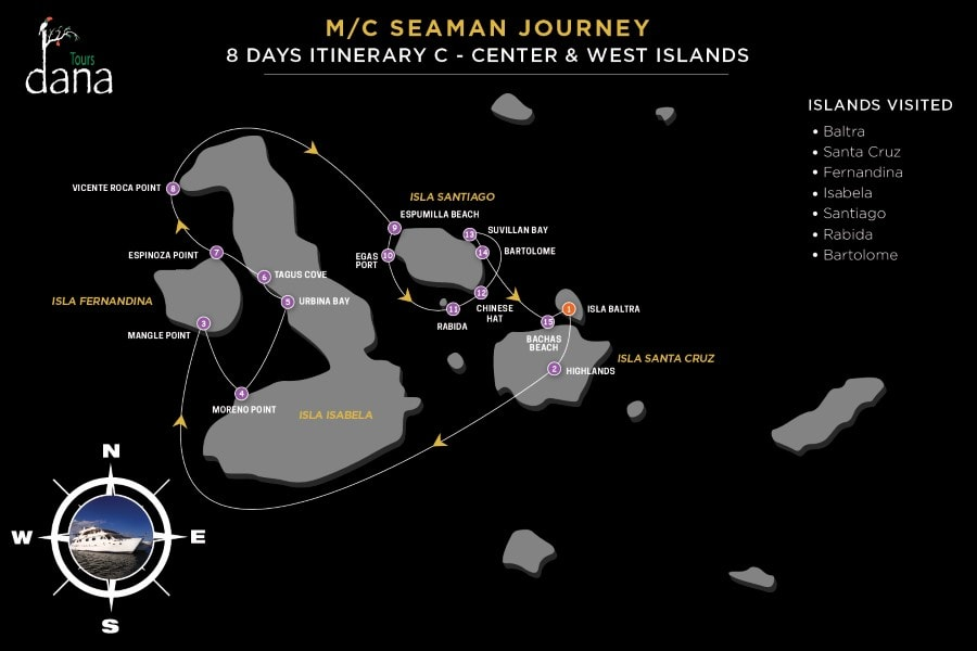 MC Seaman Journey 8 Days Itinerary C - Center & West Islands