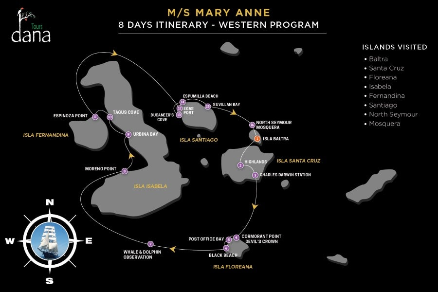 MS Mary Anne 8 Days Itinerary - Western Islands