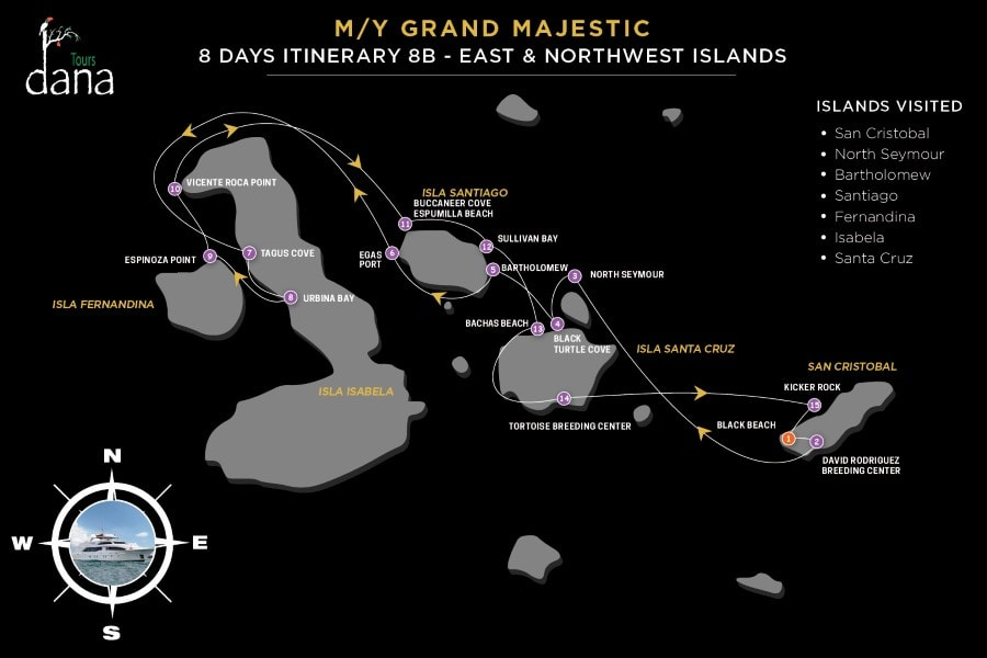 MY Grand Majestic 8 Days Itinerary 8B - East & Northwest Islands