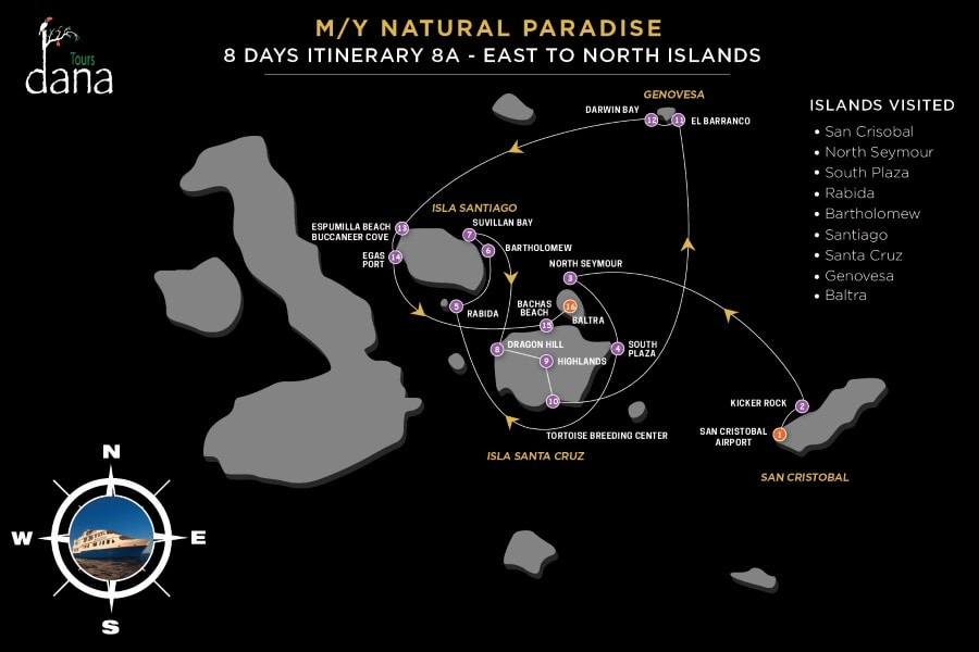 MY Natural Paradise 8 Days Itinerary 8A - East to North Islands