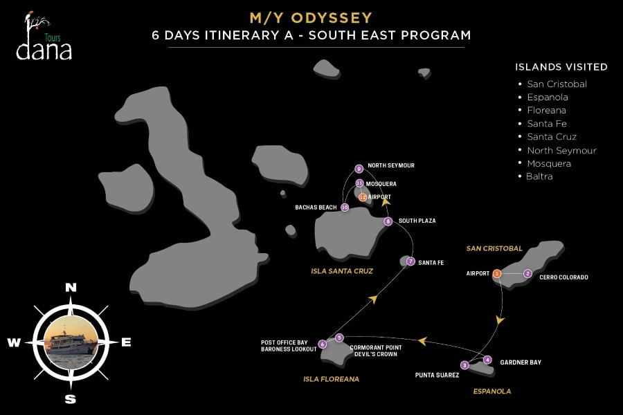 MY Odyssey 6 Days Itinerary - A - South East
