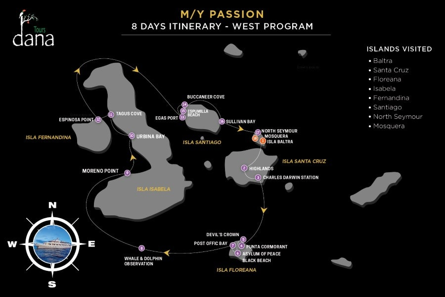 MY Passion 8 Days Itinerary - Western Islands