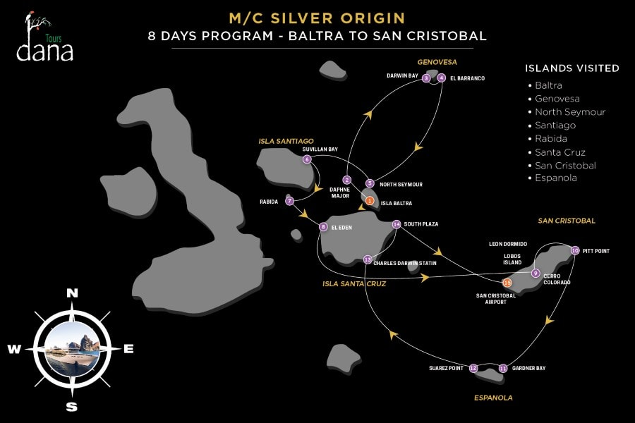 Silver Origin 8 Days Program - Baltra to San Cristobal