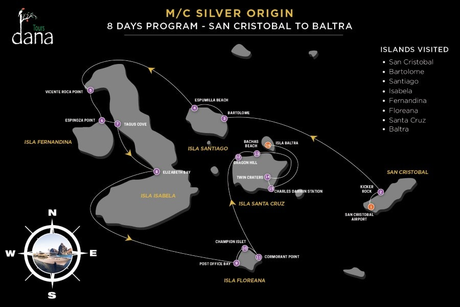 Silver Origin 8 Days Program - San Cristobal to Baltra