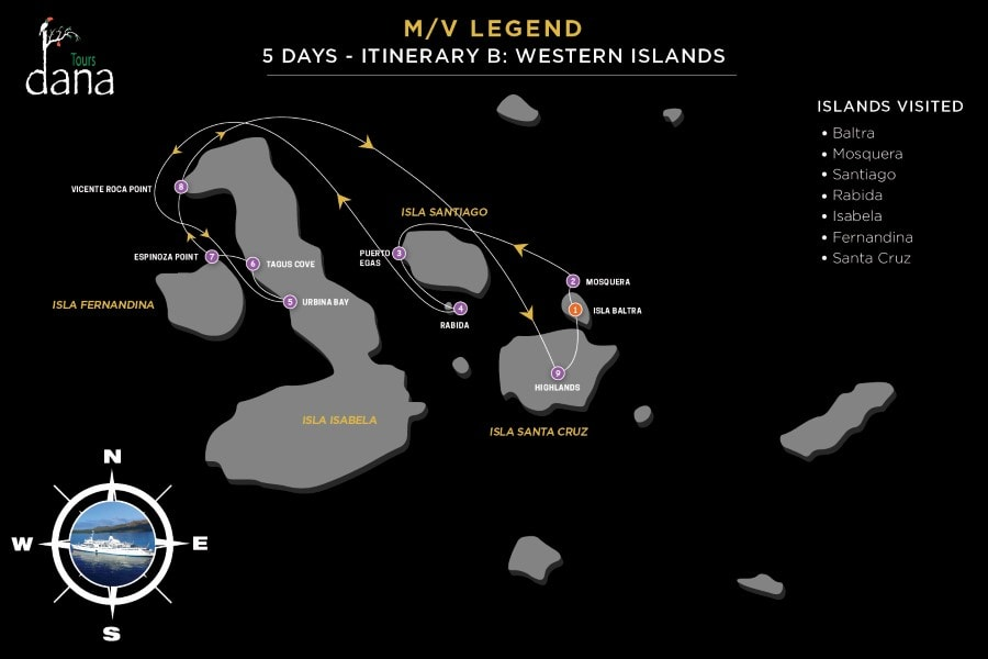 Legend 5 Days - B Western Islands