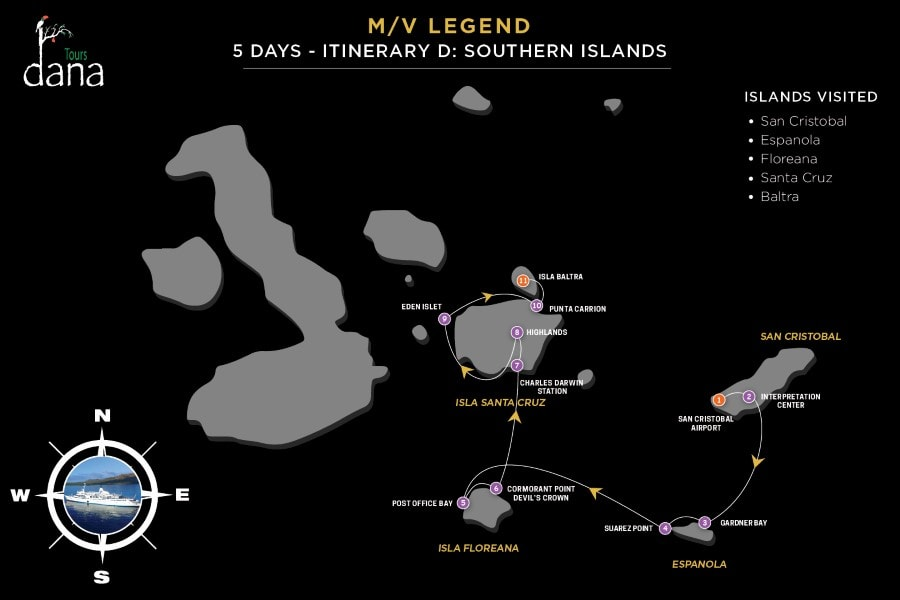 Legend 5 Days - D Southern Islands